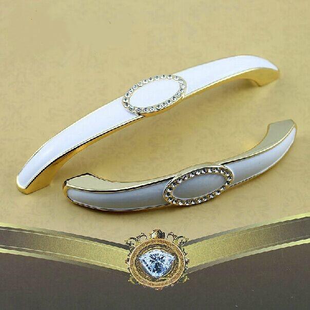 96mm modernivory white furniture handles 3 8 glass diamond crystal kitchen cabinet drawer pull white gold