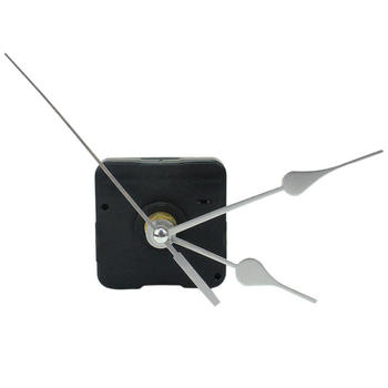 Home Simple DIY Quartz Wall Clock Movement Mechanism Replace Parts Repairing Tool Kit with Silver Arrow Hands Silence image