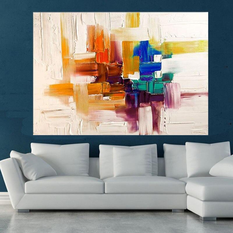 el modernismo abstracto lienzo pintado a mano colores de la paleta de pintura del arte para la sala de estar dormitorio decoracin en pintura y caligrafa