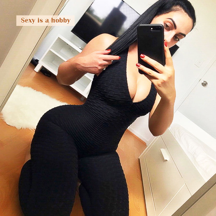 2018 Casual Jumpsuit Sexy Women Backless playsuits Skinny Bandage Summer Rompers Womens Jumpsuit Bodysuit Deep V-Neck Jumpsuit