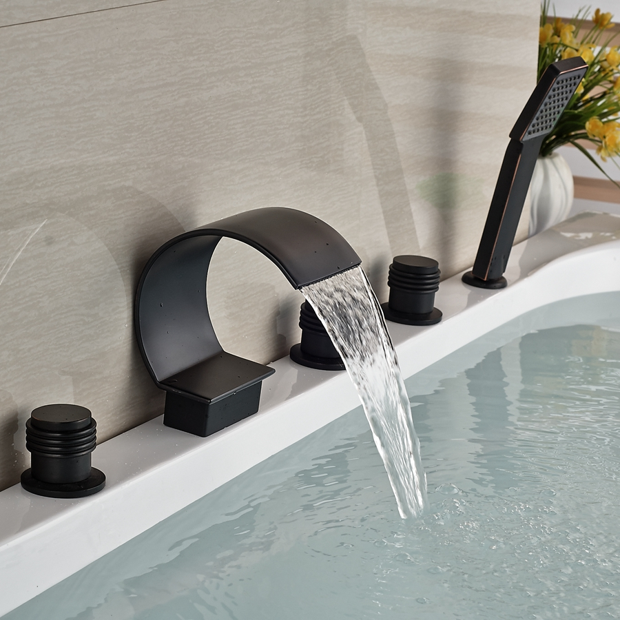 popular bronze tub spoutbuy cheap bronze tub spout lots from  - wholesale and retail oil rubbed bronze wall mounted bathroom tub faucet ccurved waterfall spout