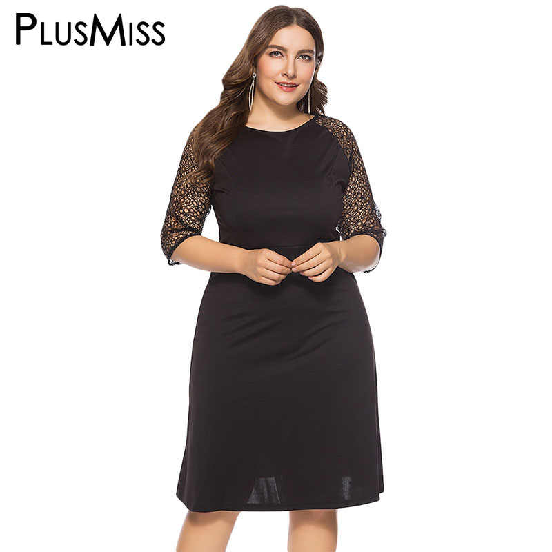 ... Party Dresses Women Black. RELATED PRODUCTS. PlusMiss Plus Size 6XL 5XL  4XL Sexy Backless Mesh Lace Sleeve Dress Women Big Size Office 631b003a70bb