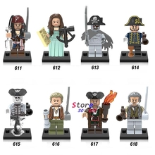 Single Movie Coco Figure Pirates of the Caribbean Jack Sparrow Captain Hector Barbossa building block toys for children