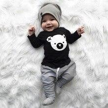 d3c163fda MUQGEW niño bebé niñas niños de dibujos animados Koala camiseta a rayas  pantalones trajes recién nacido ropa de invierno ropa in.