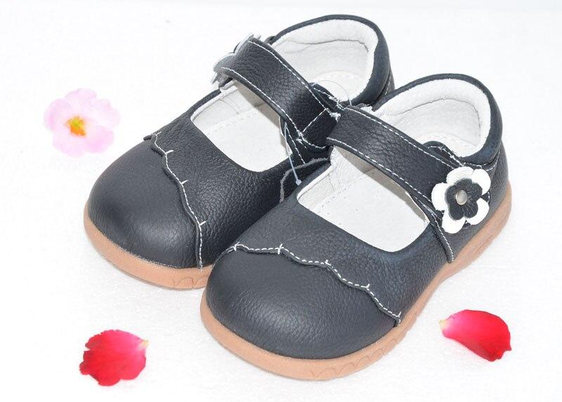 Filles chaussures véritable en cuir mary jane noir rouge rose avec fleurs enfants choses SandQbaby petites filles shoses étudiant chaussures