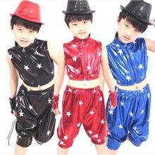 De los niños trajes de baile de Jazz de Hiphop ropa niños niñas de cinco  estrellas traje de charol para el Club de baile estudia. f0878b3fa4e
