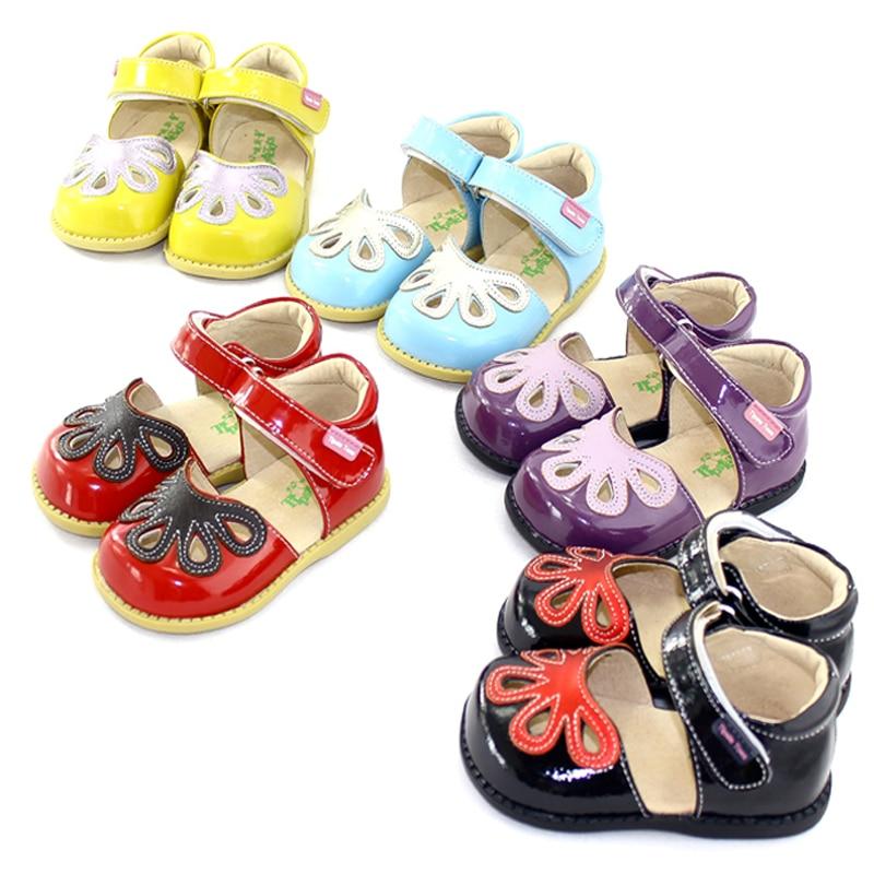 TipsieToes Summer Style Children Princess Beautiful Flower Shoes Kids Flat Sandals Baby Girl Clothes Roman Elsa Genuine Leather