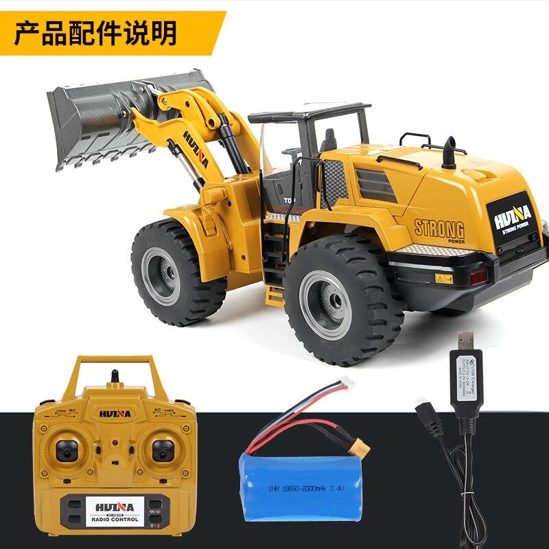 HUINA 583 2.4 G 1:14 radio control Electric High Simulation Bulldozer Engineering voiture C