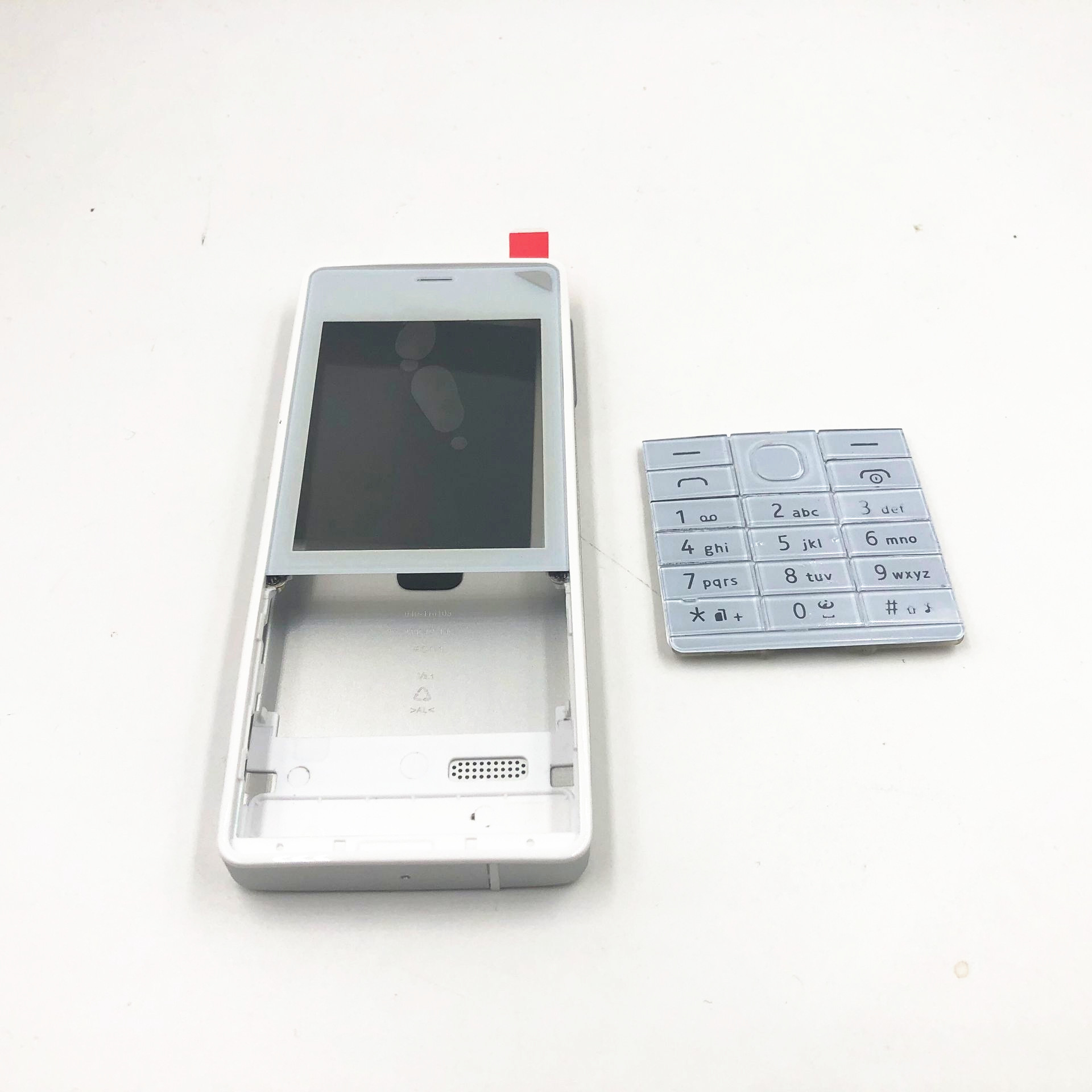 RTBESTOYZ New Front Frame Battery Door Back Cover Housing Case For Nokia 515 RM-952 With Volume Button+english Keyboard