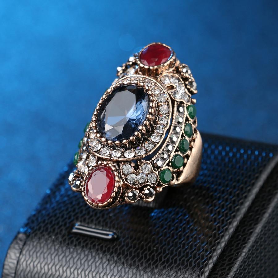 Turkey Jewellery Blue Vintage Wedding Wedding Rings For Colour - Նորաձև զարդեր - Լուսանկար 6