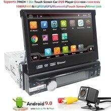Android 9,0 HD 1024*600 автомобильный dvd-плеер радио для универсального автомобиля радиомонитор 4G wifi gps навигационный головное устройство 1din 2G ram RDS BT
