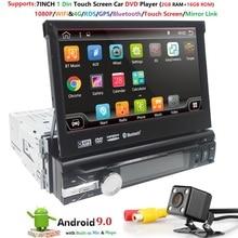 Android 9.0 HD 1024*600 Auto Lettore DVD Radio Per Auto Universale Radio Monitor 4G WIFI GPS di Navigazione unità di testa 1din 2G di RAM RDS BT