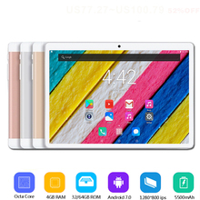 2019 neue 10 zoll tablet PC Octa Core 4 GB RAM 64 GB ROM Android 7.0 WiFi Bluetooth Dual SIM Karten 3G 4G LTE Tabletten 10,1 + Geschenke(China)