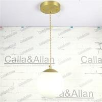 Vintage Industrial Brass Lighting Copper Pendant Light American Aisle Lights Retro White Shade Hanging Lamp LED