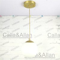 Vintage Industrial Brass Lighting Copper Pendant Light American Aisle Lights Retro White Shade Hanging Lamp LED