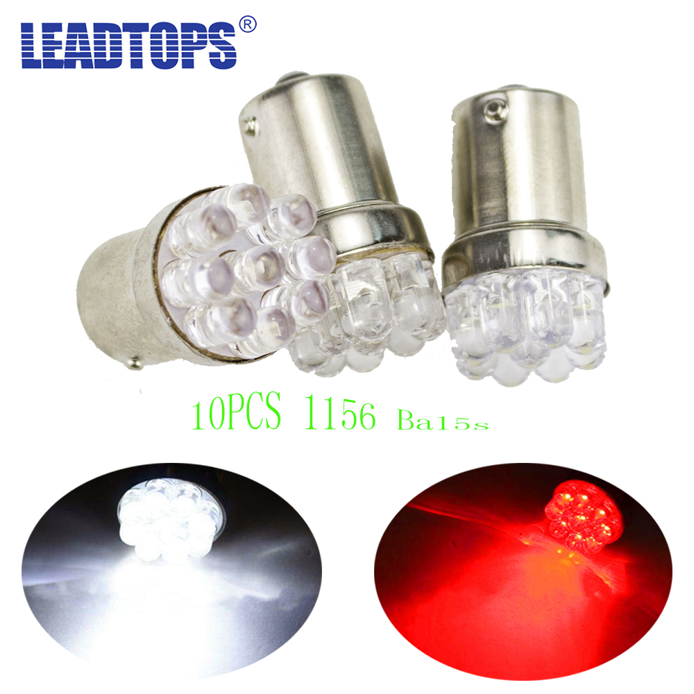 10pcs/lot 9 SMD LED 1156 ba15s 12V bulb Lamp Truck Car Moto Tail Turn Signal Light White For Renault Ford Toyota Bmw Vw Lada AH 10x car 9 smd led 1156 ba15s 12v bulb lamp truck car moto tail turn signal light white red blue yellow ba15s 1156 aa