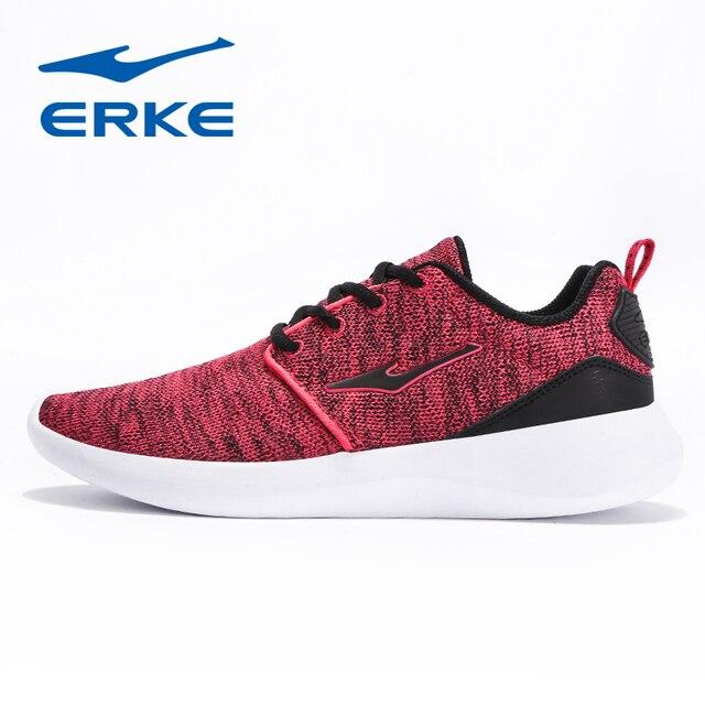 Ерке Лето Для женщин кроссовки Обувь с дышащей сеткой Для женщин кроссовки легкие Спортивная обувь женщина, бег прогулочная спортивная обувь 2018