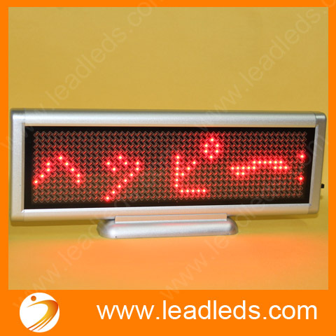 4sets/lot Red Led Moving Message Sign Board Rechargeable Electronic Sign