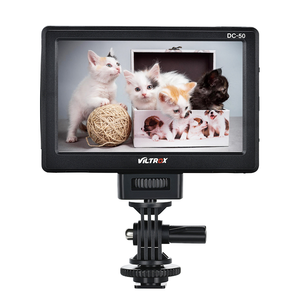 Viltrox Portable DC 50 HD Clip on LCD 5 Monitor Wide View HDMI Cable w Carrying