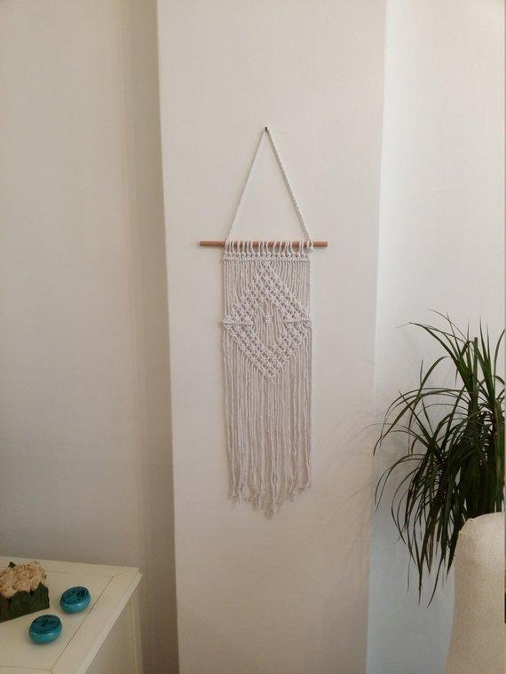 Macrame wall hanging Large macrame wall hanging Boho decor ... on Modern Boho Wall Decor  id=42335