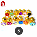 "Davidsource Jewled 67mm"" Golden Metal Jewelry Butt Plug Anus Sex Receiver Joy Submissive Pig Fantasy Naughty Sex Toy Sex Product"