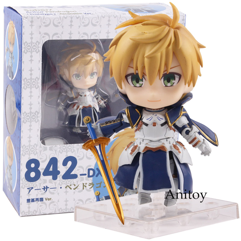 Sort/Prototype Sabre Arthur Pendragon Anime Nendoroid 842-DX Ascension Ver. PVC Sort Action Figure Collection Modèle Jouet