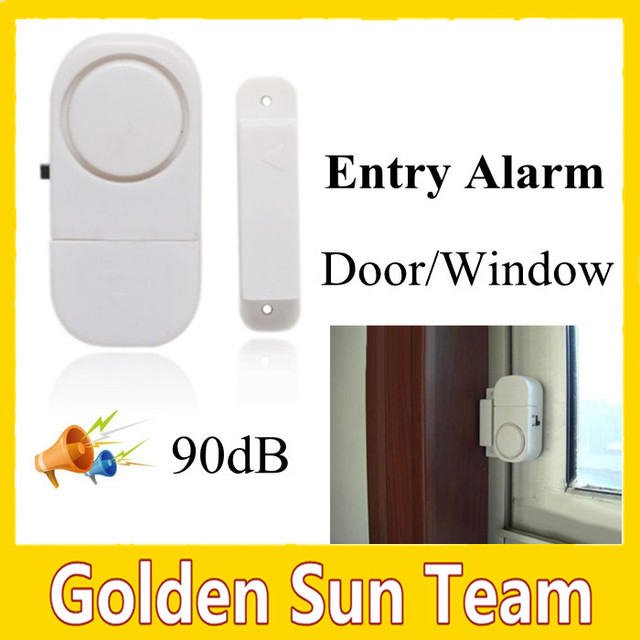 Free Shipping Wireless Doors Windows Entry Alarm 3pcs 15vlr44