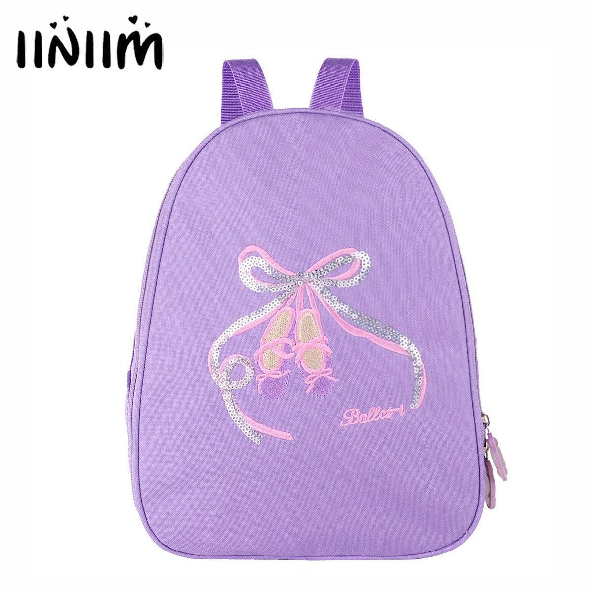 Girls Ballet Bag Letter Toe Shoes Embroidered Shoulder Bag Leotards Tutu Backpack for Kids Dancing Put in Ballet Cance Clothing