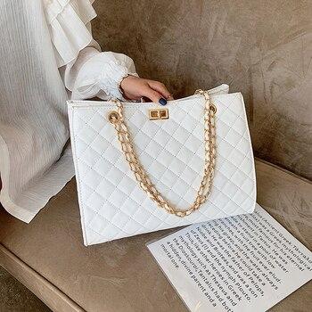Καπιτονέ τσάντα με χρυσή αλυσίδα Γυναικείες Τσάντες - Backpacks Τσάντες - Πορτοφόλια Αξεσουάρ MSOW