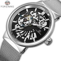 FORSINING Men Watch Top Luxury Brand Mens Casual Waterproof Mechanical Watches Man Fashion Skeleton Wristwatch Relogio
