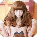 Medium Blonde Wig  Women's  Synthetic Full Bangs Party  Costume  Hair Medium Blonde Wig