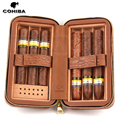 COHIBA Krokodil Muster Leder Zigarre Humidor Box Tragbare Zigarre Fall W/Luftbefeuchter Zedernholz Reise Humidor Fit 6 Kuba zigarren|Zigarren Zubehör|   -
