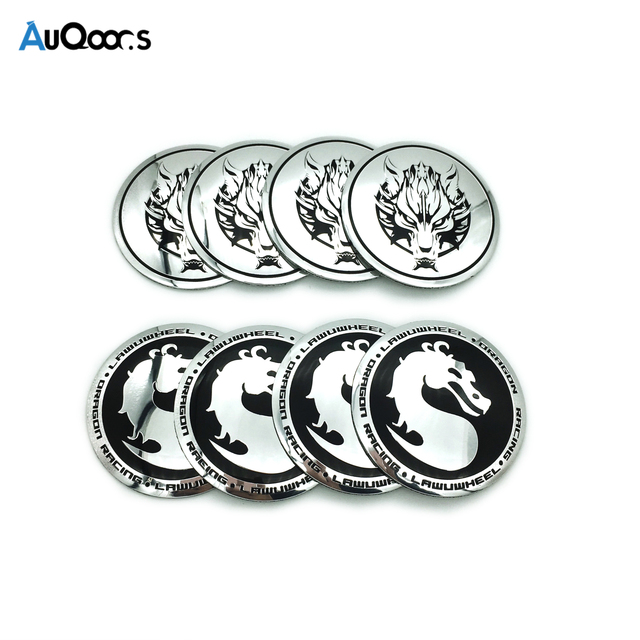 Auqoors 4pcs Dragon Snow Wolf Car Sticker Car Steering Tire Wheel