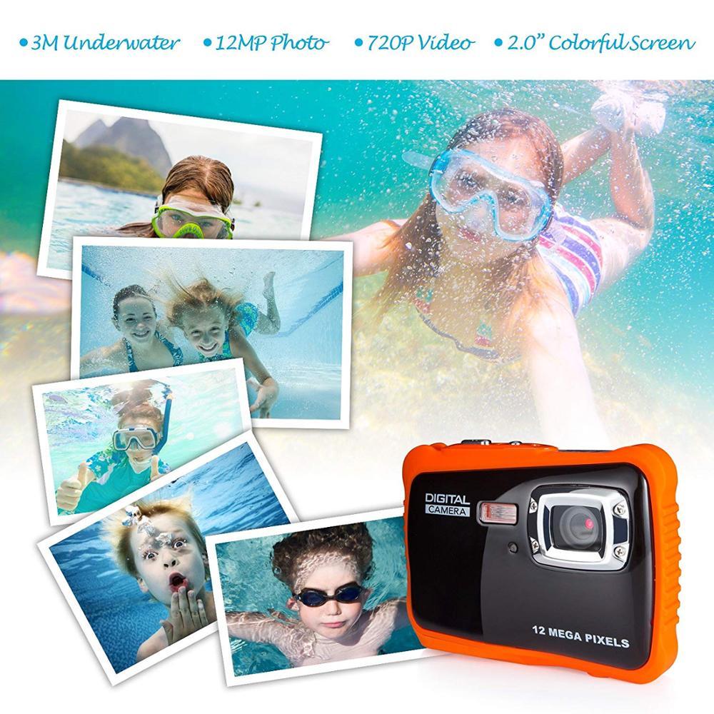 Kinder Kamera Wasserdichte Digital Sport Action Camcorder Unterwasser Kinder Stoßfest Kamera Für Wasser Sport Jungen Mädchen Geschenk HD
