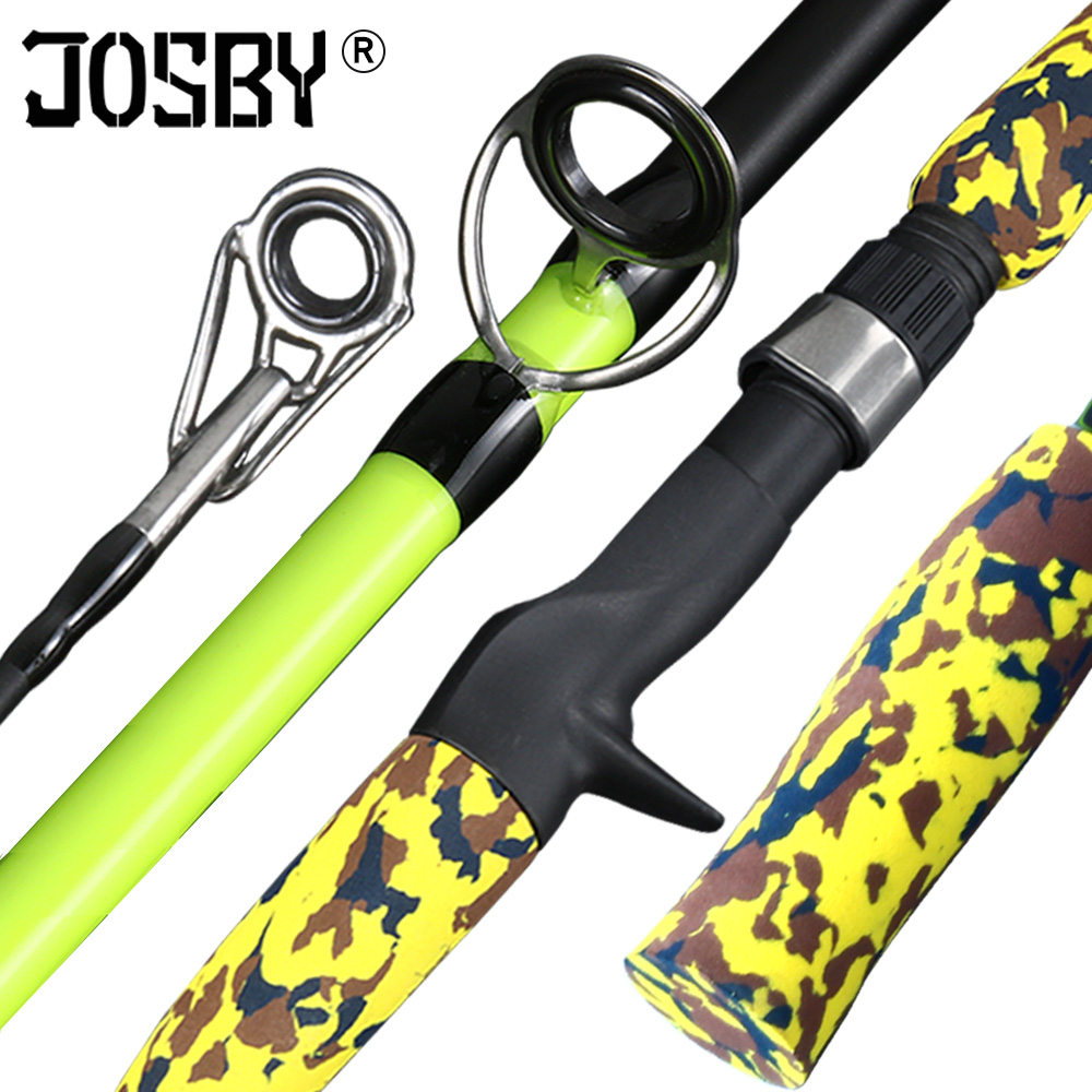 Green Camouflage casting Spinning Fishing Lure Rod  Portable 1.8M 3.5-20g Test 3.5kg ML Action Carbon Fiber Travel Carp Bait