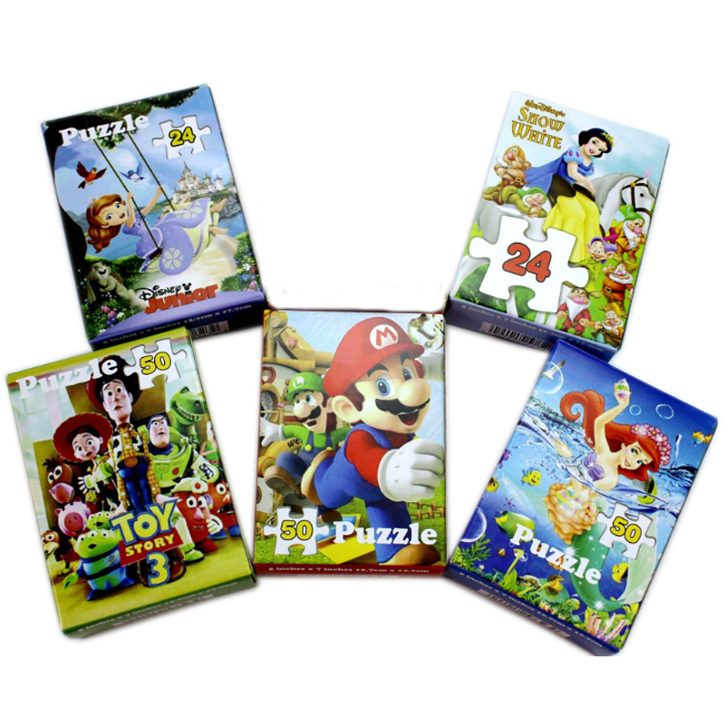 1 комплект Новые творческие Белоснежка София Toy Story Марио Mermaid Puzzle коробка головоломки для детей раннего развивающие игрушки