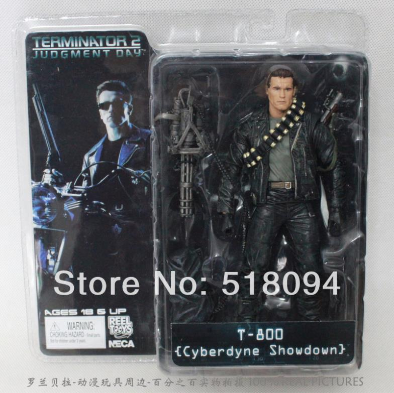 Retail NECA The Terminator 2 T-800 Cyberdyne Showdown PVC  Action Figure Toys 18cm Arnold фигурка planet of the apes action figure classic gorilla soldier 2 pack 18 см