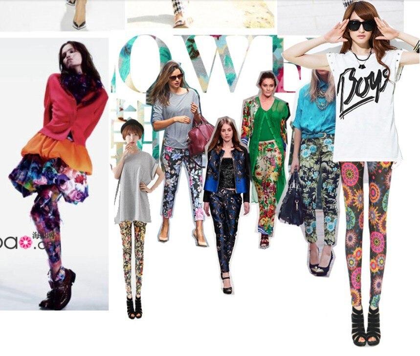 bc0ff42e492e2 2013 Summer Autumn Elastic Milk Silk Printed Ankle Length plus size Leggings  for women XL XXL XXXL Free Shipping-in Leggings from Women's Clothing on ...
