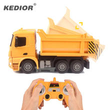 RC Truck Big Dump Truck Electric Engineering Machine Radio Controlled Construction RC Tanker Cement Mixer Toy Car With Battery rc truck 2 4g radio control construction rc cement mixer fire truck rc garbage truck rc crane truck for kids gift toys