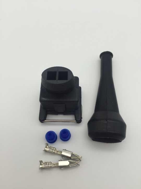 10 компл./лот 2 Pin/способ Junior Мощность(мини таймер) штепсельная вилка с Резиновые сапоги для Bosch Инжектор Разъем rrepair Наборы(EV1 Стиль
