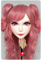 (DM049) Girl Sweet Resin Japanese Anime Kigurumi Mask Cosplay Lolita Crossdressing Lifelike BJD Masks