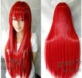 "Wholesale price Hot Sell TSC ^^^^ Fashion Red 80cm/32"" Long Straight Women Wigs Anime Cosplay Party Wig"