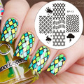 BORN PRETTY Nail Art Stamping Plates Grid Pattern Nail Stamp Image Template Manicure BP-13