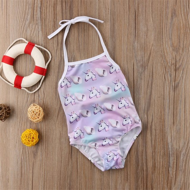Online Shop Unicorn Baby Girl Swimsuit Lovely Bathing Suit Toddler ...