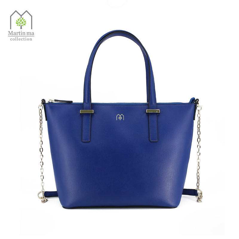 Spring New Arrival Genuine Leather Handbag Large Top Handle Bags OL Metal Chain Shoulder Bag Hobos Famous Brand Luxury Design
