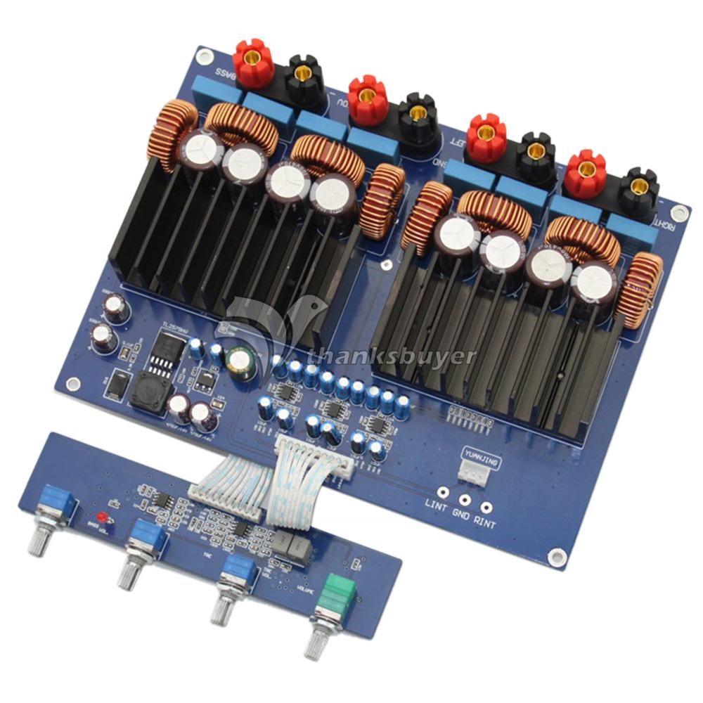 TAS5630 2.1 Class D DC48V 1200W High-Power Stereo Digital Amplifier Board Audio Amp new the wind tas5630 2 1 home audio power amplifier 150wx2 300wx1 g3 006