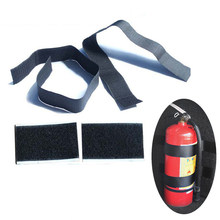Car styling 4 Pcs/set Belt Car Trunk Nylon Belt Vehicle Stowing Tidying Bag Strap Fire Extinguisher Bracket Sticker Fixing Tape(China)