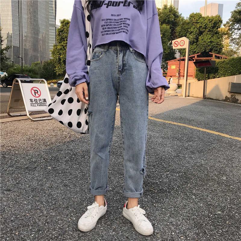 Дешевые оптовые продажи 2019 Новинка весна лето осень хит продаж женские модные повседневные джинсовые штаны BC121