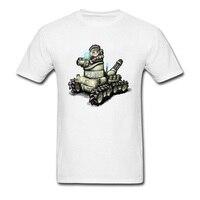 Cool Dominion Tank Police Cartoon T Shirts Cotton White Men Tee Shirt Short Sleeve Simple Style