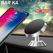 Sarika Magnetic Car Phone Holder For iPhone Samsung S8 Plus Mobile Stand Mount Support GPS 360 Degree Rotatable Magnet Holder цена